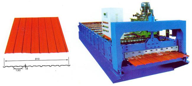厂家生产彩瓦成型机 多型号 单、双层压瓦机 高质量机械设备