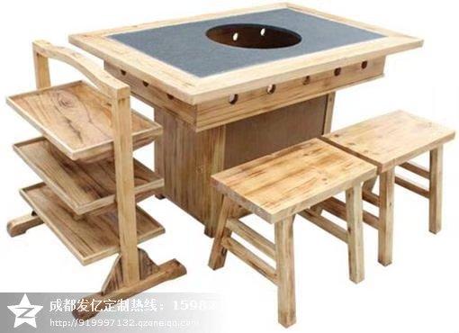 深圳哪里买大理石火锅桌椅成都火锅桌专业定制厂家