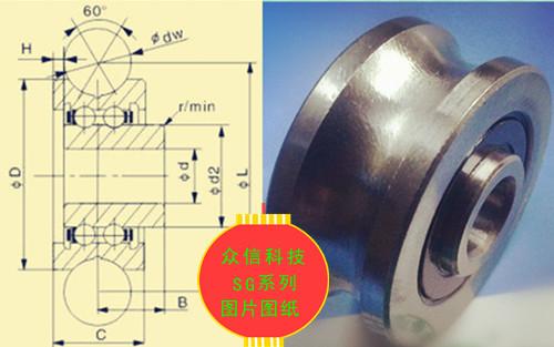 供应众信科技制造SG15/ZZ/2RS滚轮轴承