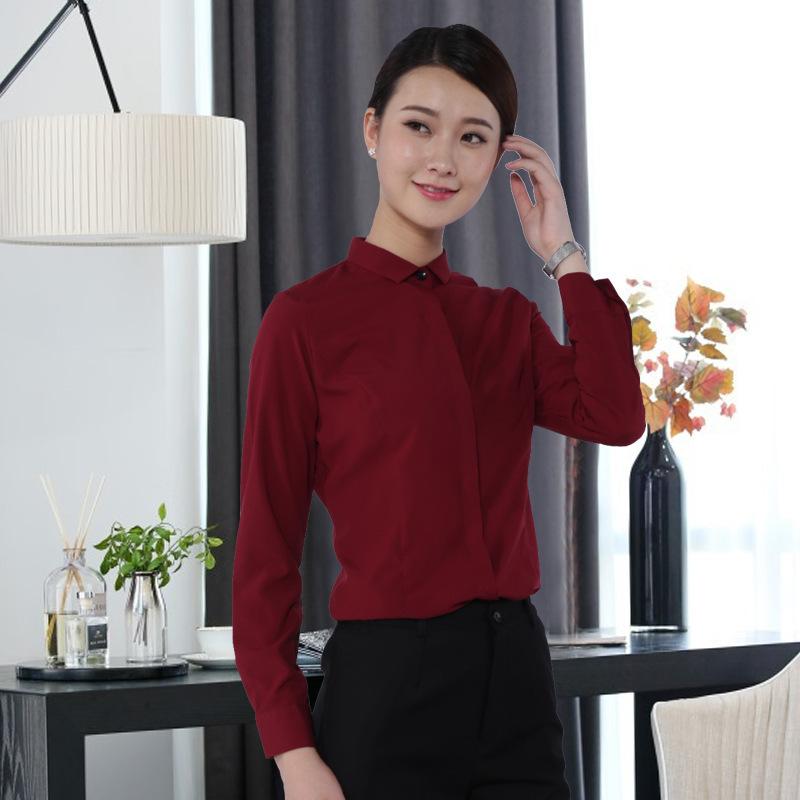 湖南职业套装批发女式衬衫工作服定制