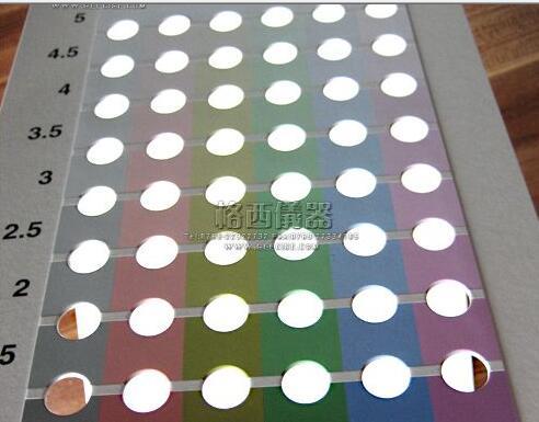 AATCC F-0806标准九级比色卡九级彩色移度卡颜色转移灰卡