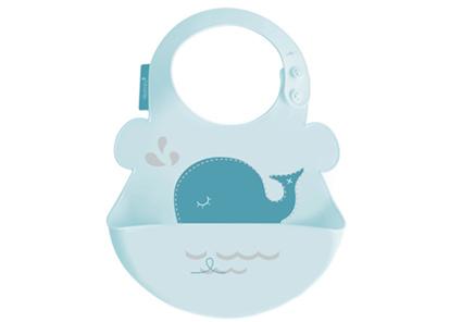 雪卡儿sharecare口水兜母婴用品宝宝吃饭硅胶围嘴防水婴儿围兜儿童食饭兜
