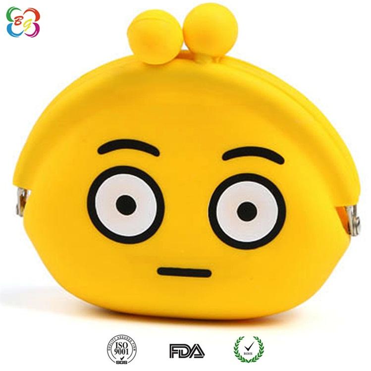 供应五金包胶表情零钱包 有现模,广州博高硅胶钱包厂家定制