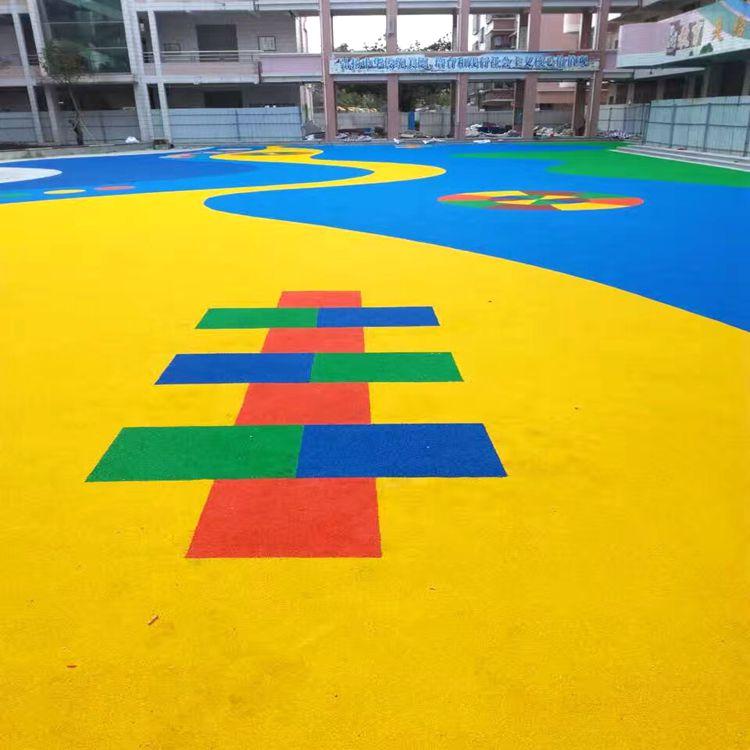 惠州游乐场彩色地板翻新、EPDM塑胶场地面施工、彩色EPDM跑道施工manbetx登陆