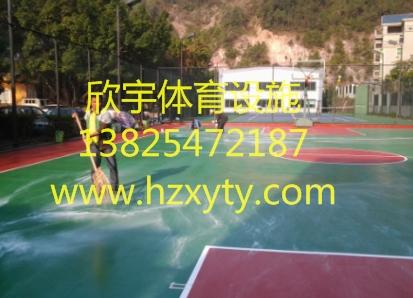 惠州球场施工、丙烯酸篮球场施工、丙烯酸网球场翻新设计