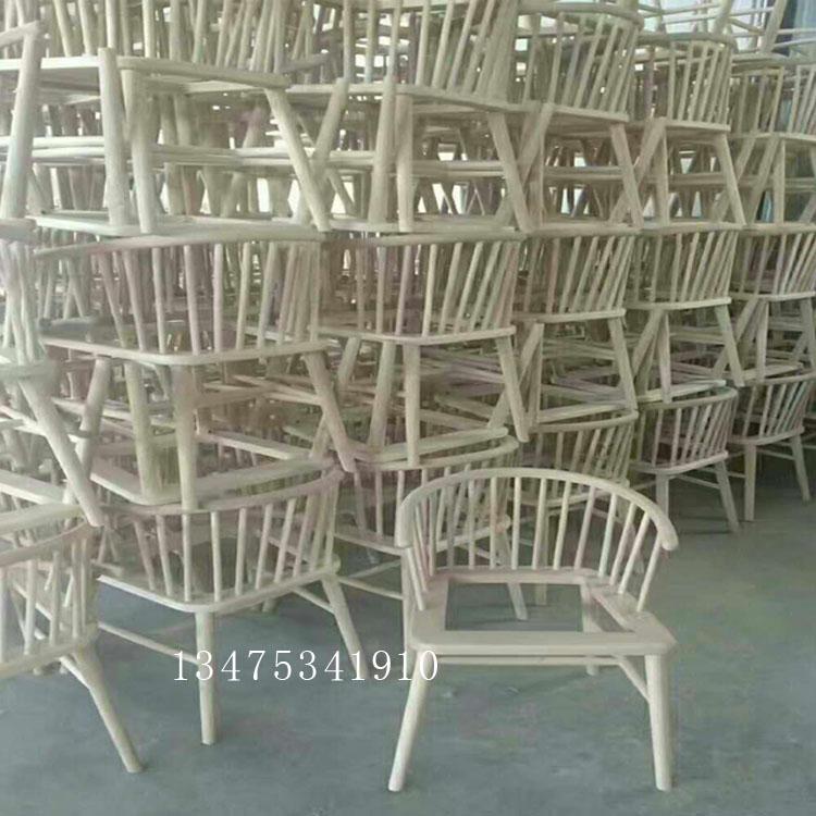供应实木桌椅白茬欧式圈椅扶手椅白茬温莎椅公主椅白茬休闲咖啡厅 奶茶店桌椅白茬