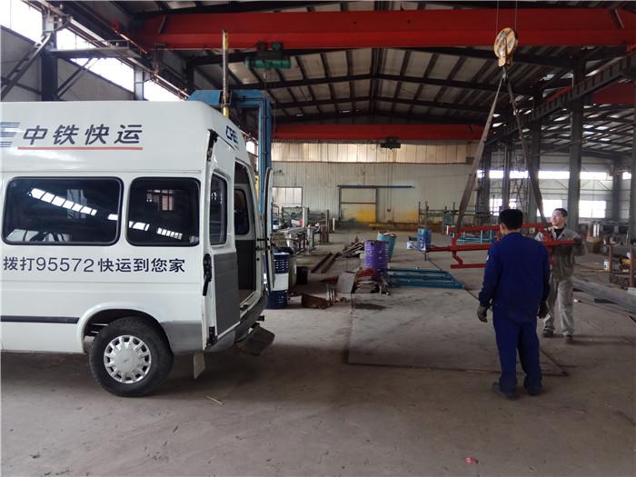 山东客户订购的复合板轴芯于17日顺利发货