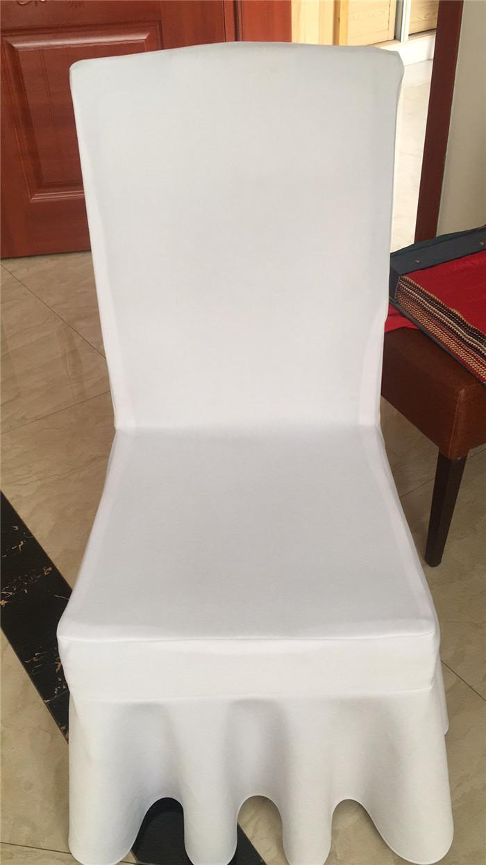 定制高档酒店椅子套台布饭店宴会裙摆加厚空气层凳套