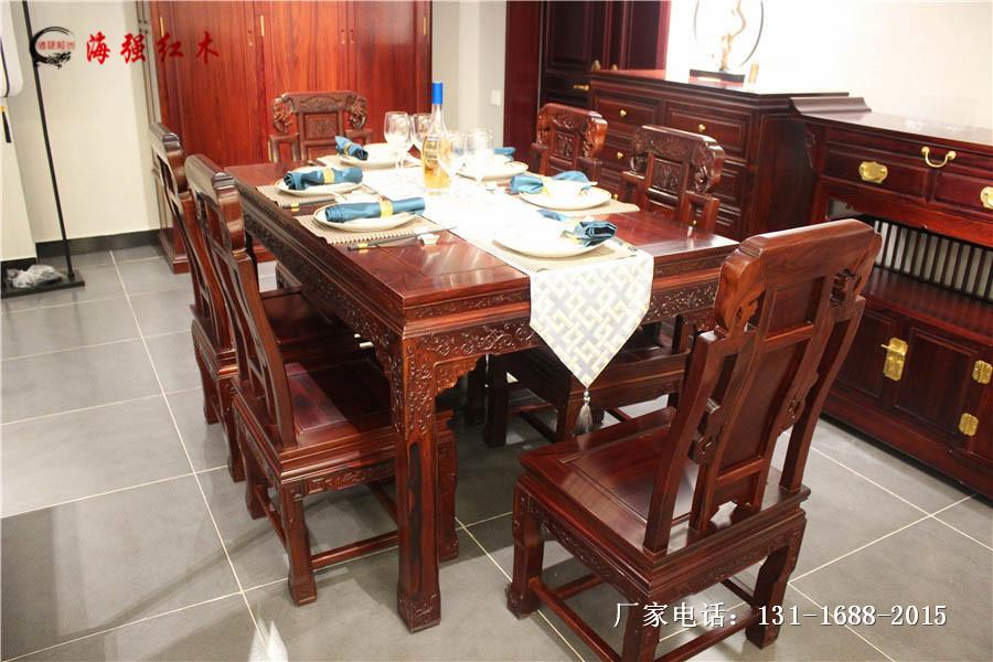 明式餐桌_象头餐桌_海强红木