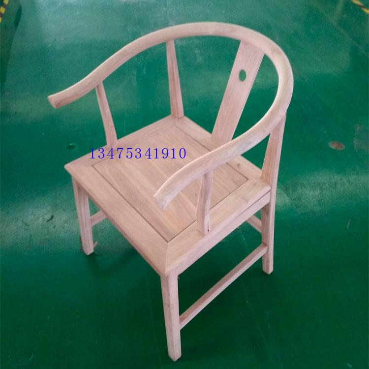 实木桌椅白茬新中式办公太子椅白茬休闲主题餐厅桌椅白茬太子椅扶手椅新式摇椅白茬