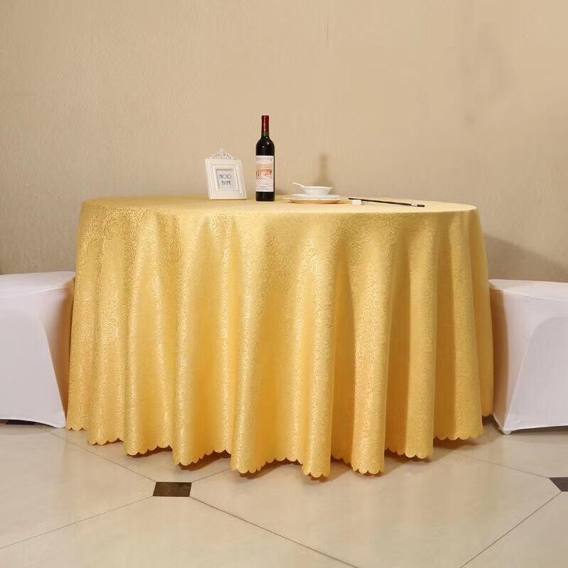高档酒店台布饭店家用圆桌布餐厅长方形餐桌布