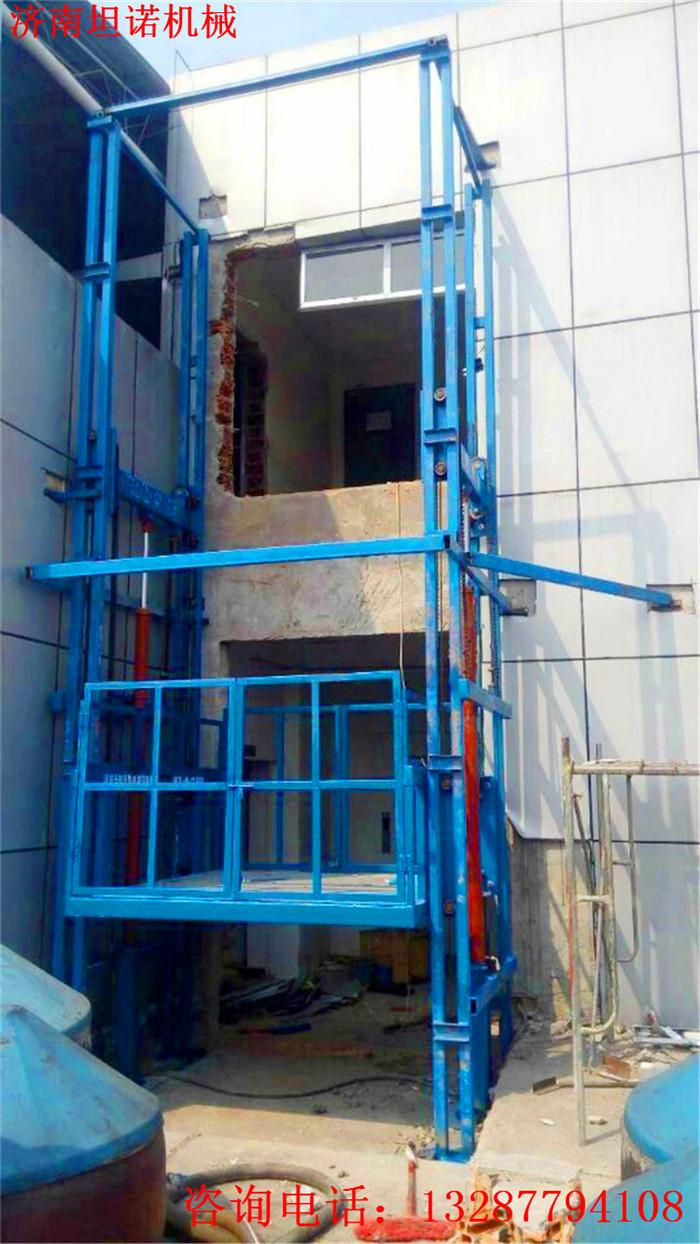 滨州2-5层液压升降货梯定做坦诺厂房液压货梯生产厂家