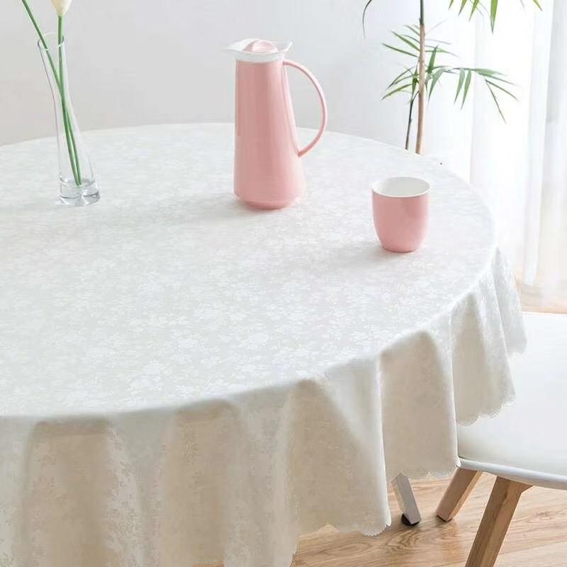 欧式餐桌布防水防烫防油免洗桌垫酒店家用台布圆桌长方形