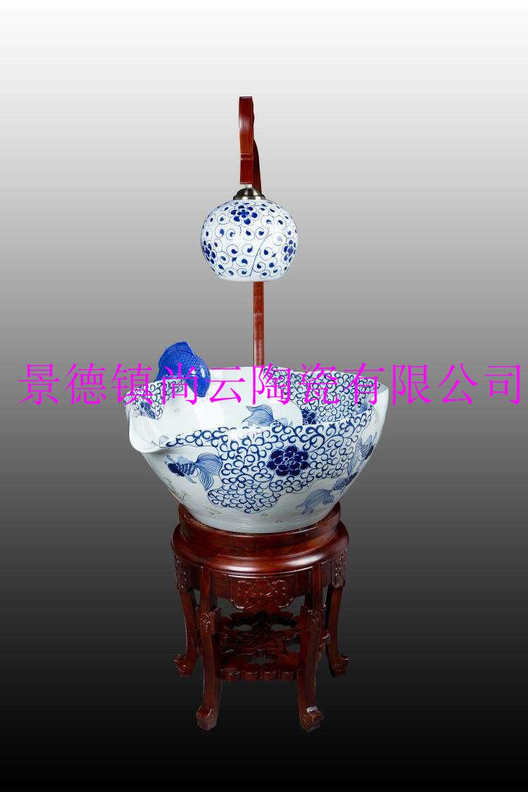 陶瓷聚宝盆,喷泉加湿器定制