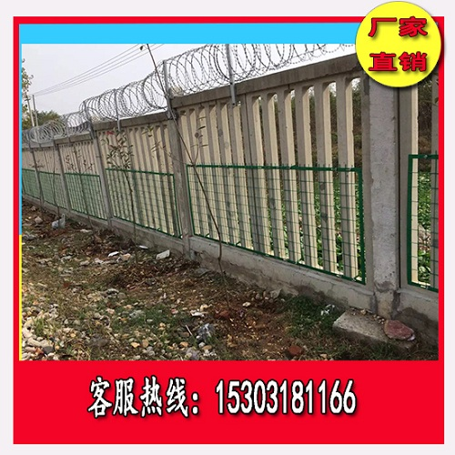 高铁加高网片型刺丝滚笼防护栅栏出售