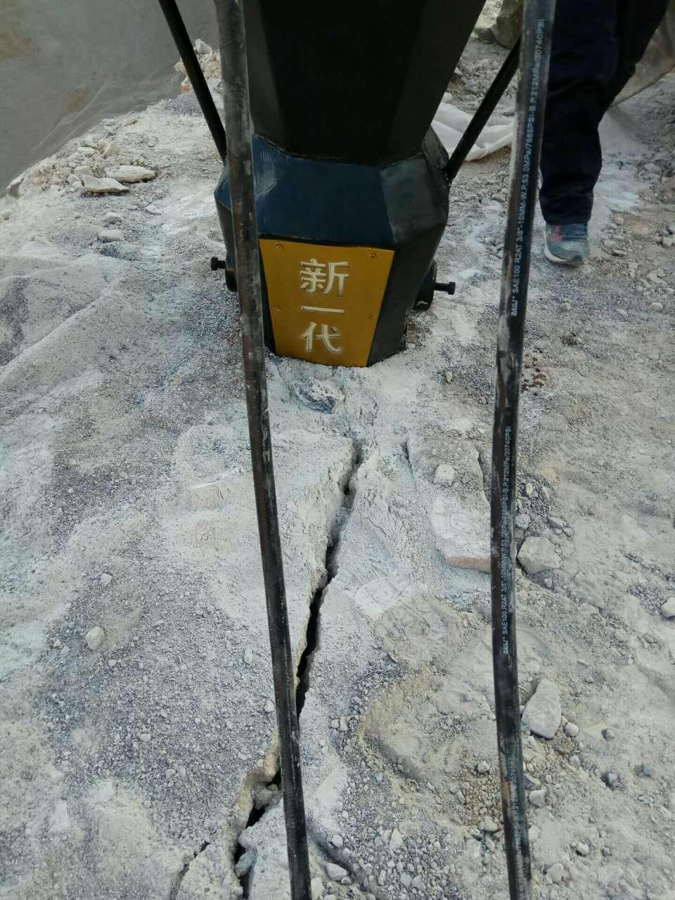 福建龙岩岩石大力劈裂机液压撑石机
