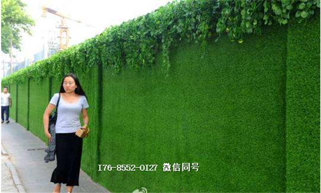 人造草坪围墙仿真草皮指导报价