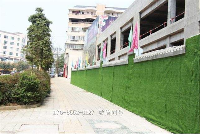 工地围挡塑料草坪人造草坪施工方案