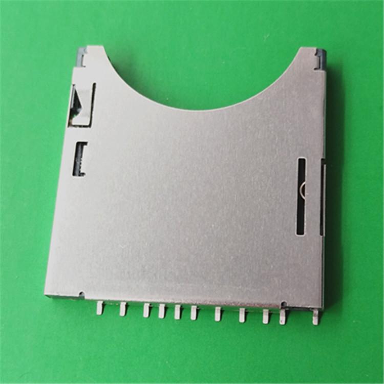 深圳�B接器�S家批�lSD卡座,SD自��式,SD�фi扣卡座