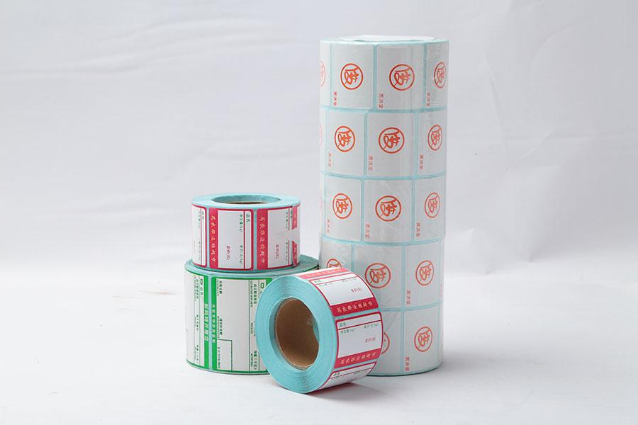 定制标签打印纸、铜板热敏不干胶标签