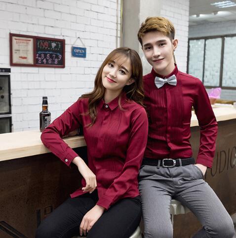 荔��^中式餐�d餐�服�b定做、服��T工作服制服棉麻短袖工衣定做