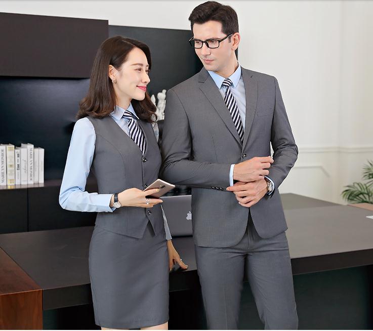 越秀区夏装短袖职业装定做、办公人员职业装定制、商务职业装定做