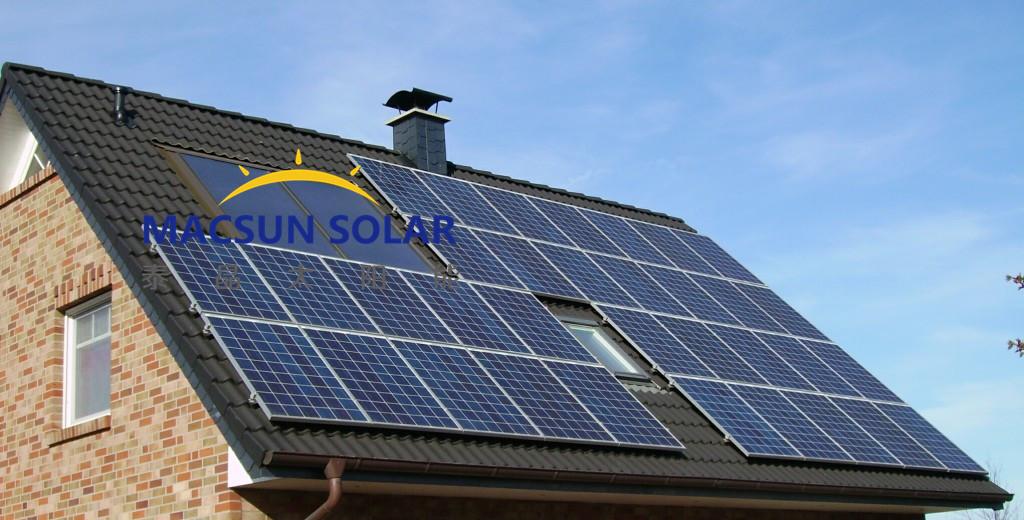 太阳屋顶并网系统