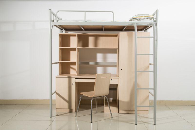 宿舍铁架床 上下铺 上床下桌 番禺办公家具定制
