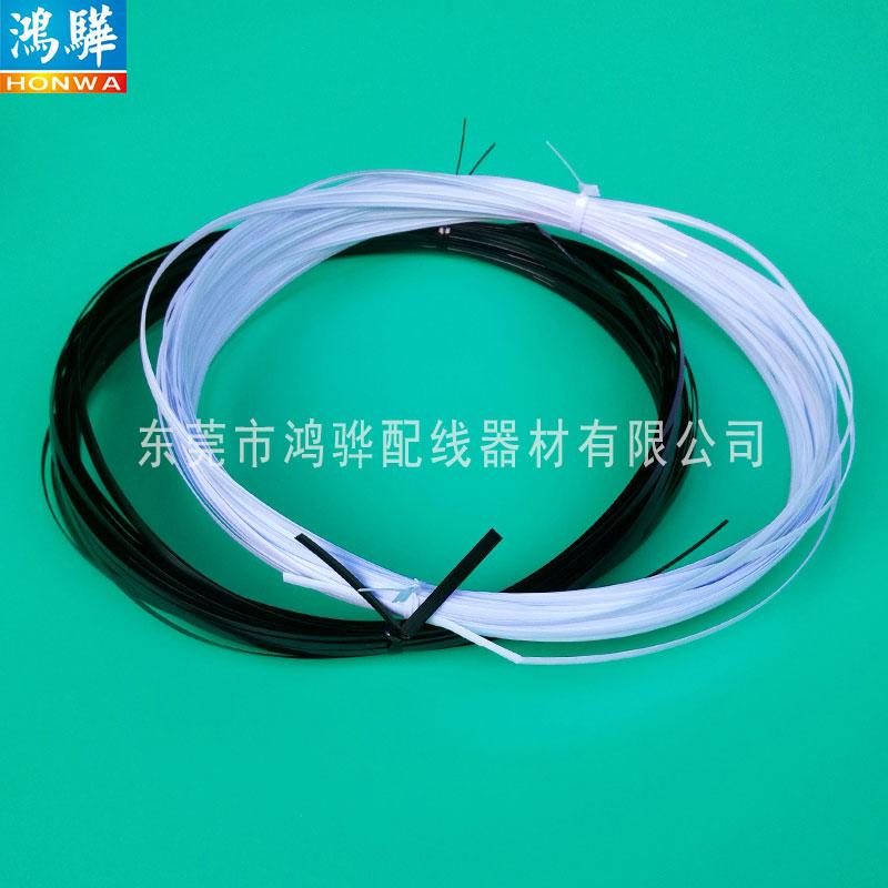 佛山pet无芯扎带厂家生产供应 不伤线材椭圆黑白pet无心扎线带