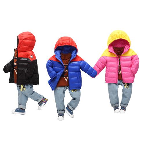 儿童棉袄、2018新款儿童棉服羽绒服批发供应