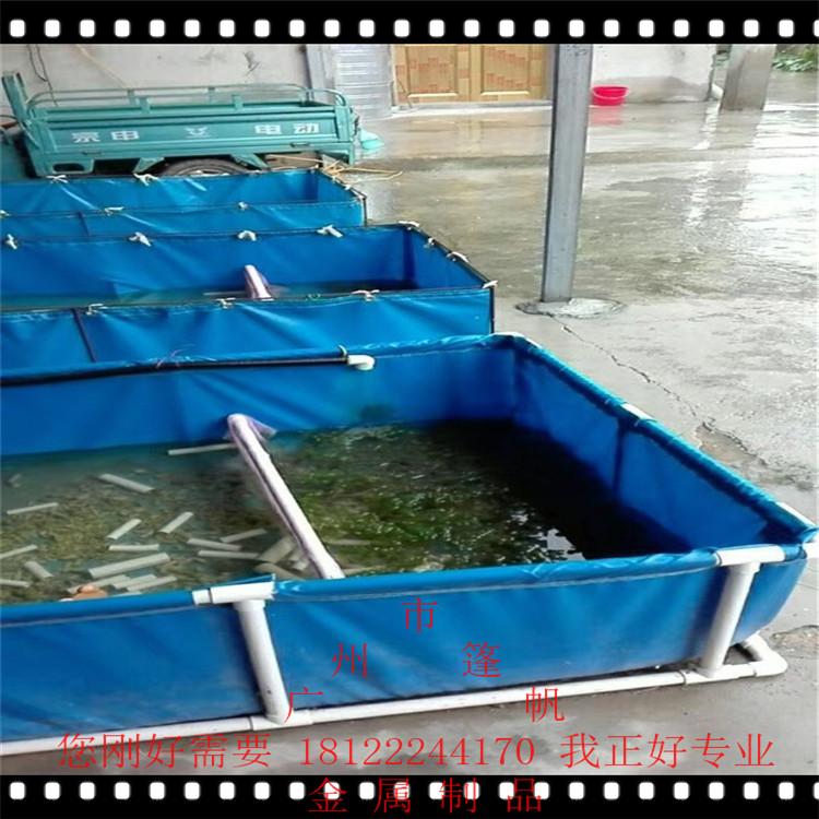 防�B漏�~池刀刮布涂涂塑帆布加厚PVC帆布水池�~池蓄水池