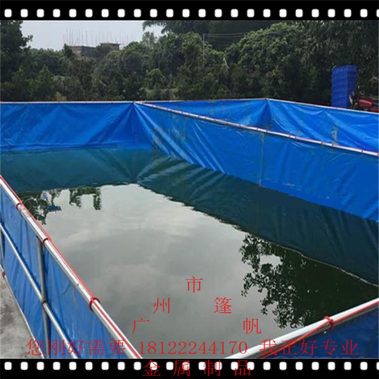 多用途帆布折�B水池pvc刀刮布�\��~池大中小型加厚蓄水池