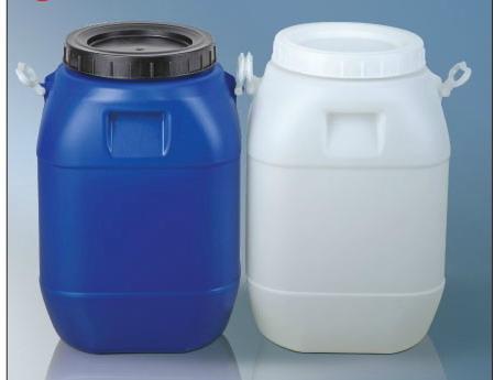 食品级白色包装桶蓝色运输桶50公斤装塑料桶50升周转桶