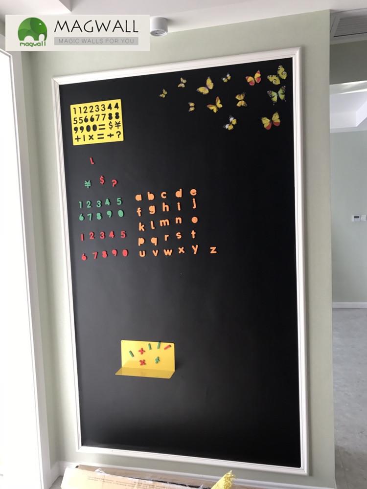 批发magwall创意无尘擦写双层磁性软黑板