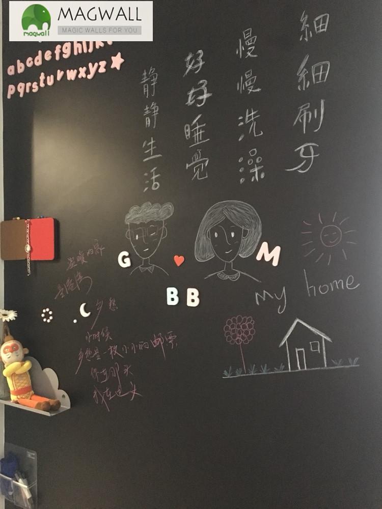 厂家直销magwall自带背胶可重复擦写磁力黑板