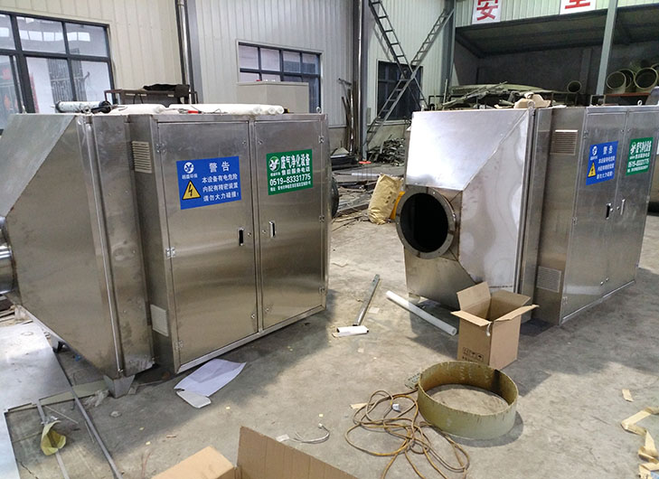 扬州光氧催化设备-活性炭吸附箱双层保温脱附箱