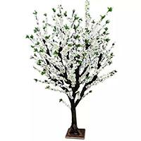 订做假梨花树仿真白色梨花客厅酒店落地橱窗婚礼装饰洁白雪梨花