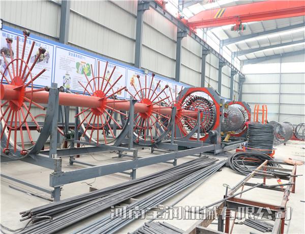 黑龙江鹤岗钢筋笼滚焊机2.0滚焊机成型钢筋笼滚笼机
