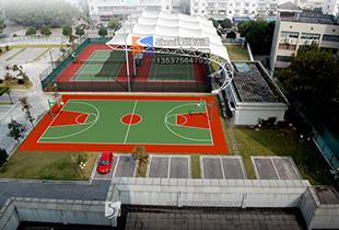 膜结构工程体育设施膜结构篮球场膜结构张拉膜结构钢膜结构