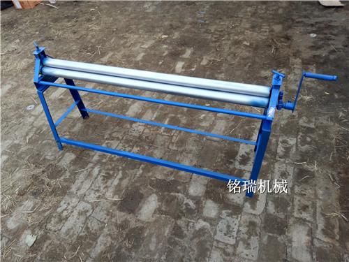 陕西咸阳市手动卷筒机可拆卸铁皮保温卷板机五轮防滑