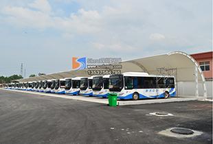 膜结构工程膜结构交通设计膜结构车棚公共汽车站停车棚充电桩张拉膜结构
