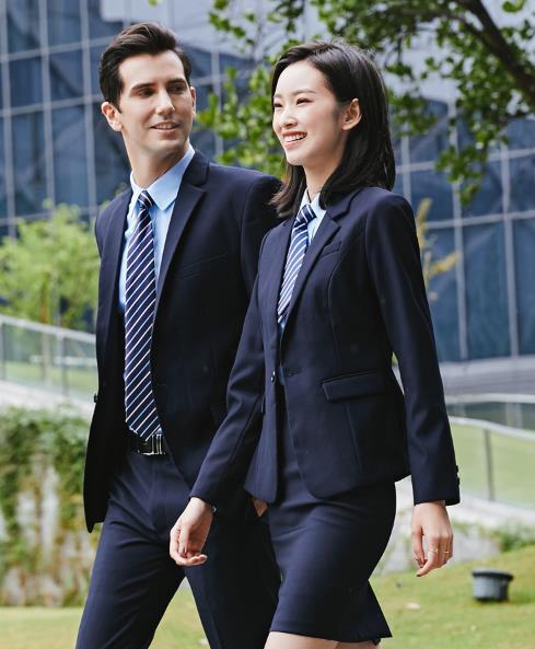 企业员工职业装定制西服套装定做 可上门量体