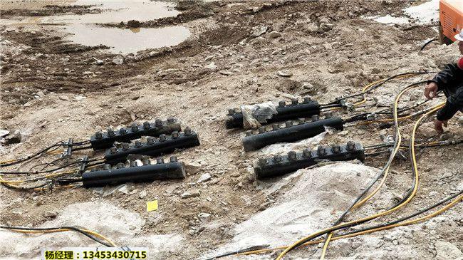 镁矿石开采石块快速分裂清除劈裂机用过的都说好甘肃舟曲