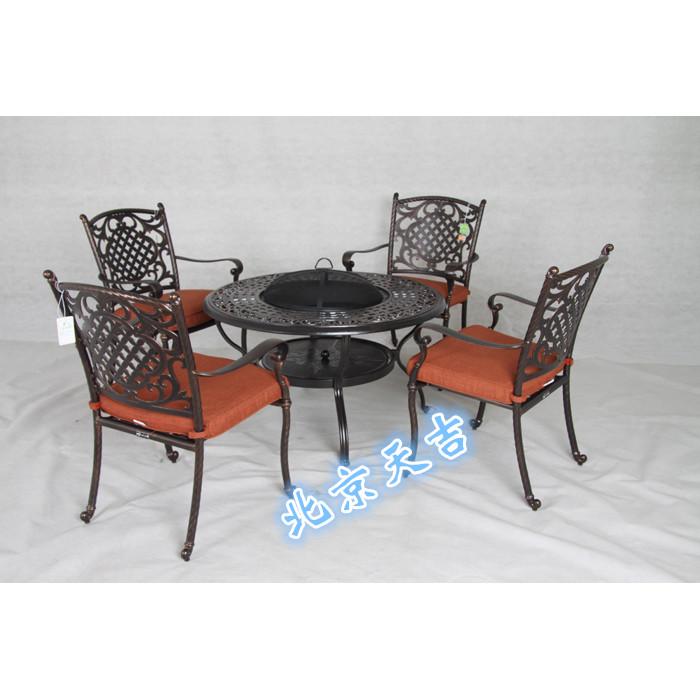 铸铝烧烤桌椅休闲桌椅户外桌椅