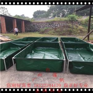 定制方便移�铀�袋可折�B�B�~池防�B漏防水布游泳�λ�帆布水池