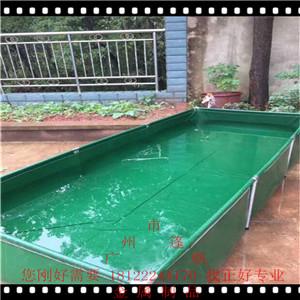 帆布�~池泳池蓄水池布可折�BPVC涂�拥豆尾拣B殖帆布水池