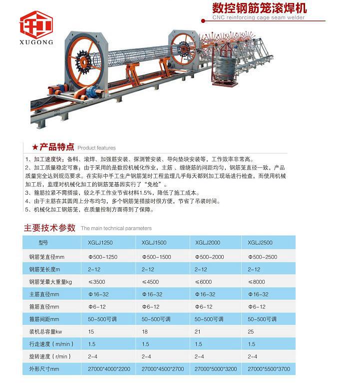 四川眉山简易钢筋笼滚焊机标准化工地施工