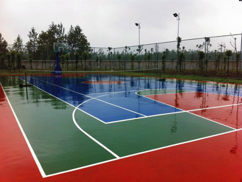 塑胶球场地胶铺装营造出的运动场地怀化湖南一线地坪有限公司欢迎您