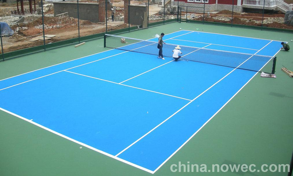 pvc卷材篮球场施工一直走在同行业的前列益阳湖南一线体育地坪材料