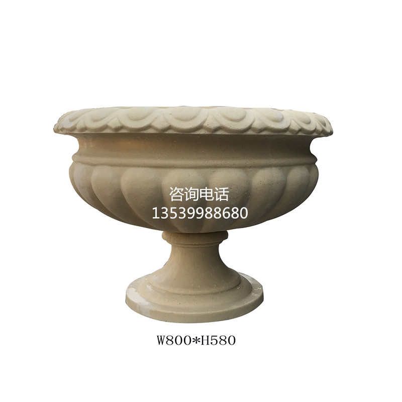 人造砂岩花钵|户外装饰花盆|摆件环保装饰花盆雕塑